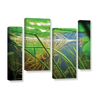 ArtWall Ed Shrider's Butler Lake #9, 4 Piece Gallery Wrapped Canvas Staggered Set