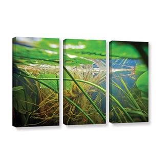 ArtWall Ed Shrider's Butler Lake #9, 3 Piece Gallery Wrapped Canvas Set