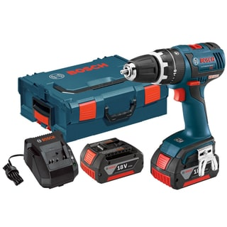Bosch HDS182-01L 18-Volt Brushless 0.5-Inch Compact Tough Hammer Drill/Driver with 4.0Ah Batteries, Charger + L-Boxx-2