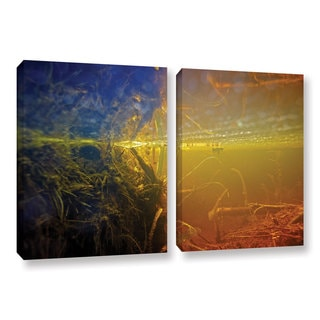 ArtWall Ed Shrider's Butler Lake #3, 2 Piece Gallery Wrapped Canvas Set