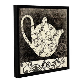 ArtWall Jo Moulton's Teapot I, Gallery Wrapped Floater-framed Canvas