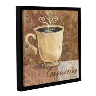 ArtWall Jo Moulton's Cappuccino, Gallery Wrapped Floater-framed Canvas