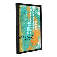 ArtWall Sarah Ogren's Orange And Green Abstract, Gallery Wrapped Floater-framed Canvas