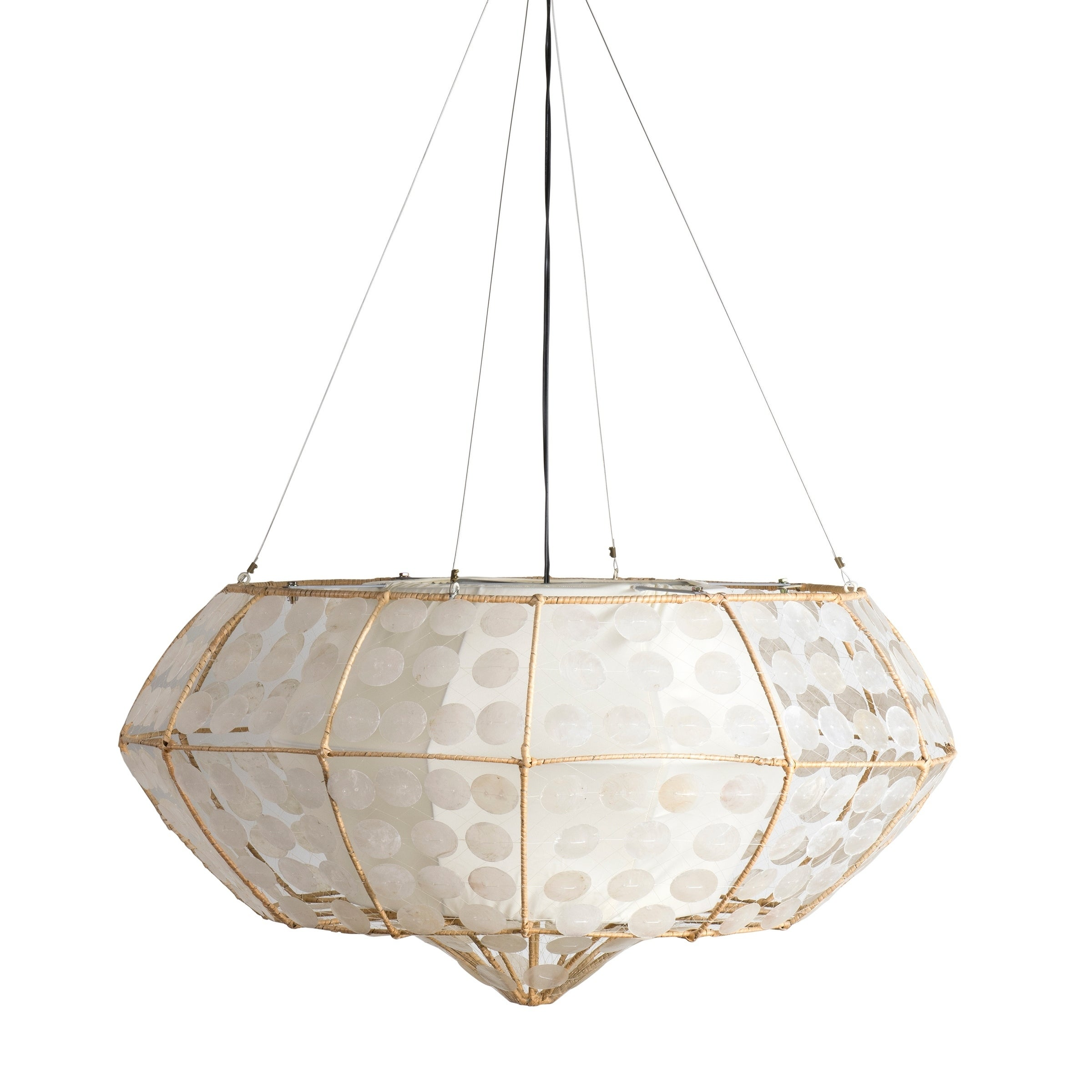 Crafted Home Clark Capiz Hanging Lamp (Clark-90B), Ivory ...