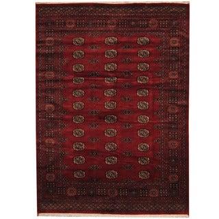 Herat Oriental Pakistani Hand-knotted Prince Bokhara Wool Rug (5'8 x 7'9)