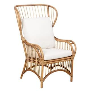 Trice Rattan Wingback Chair