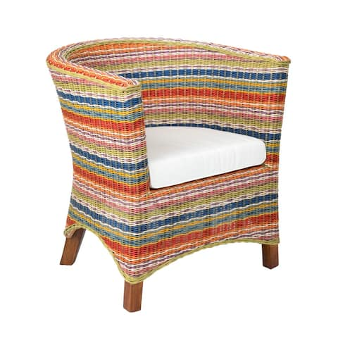 East at Main Highland Lightweight Rattan Accent Chair