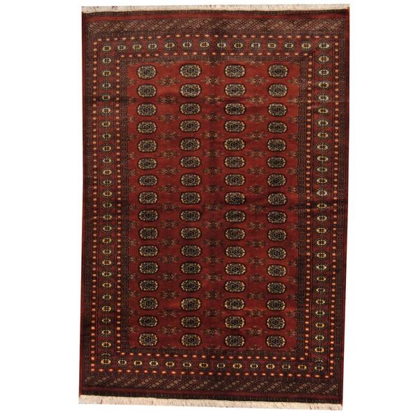 Shop Herat Oriental Pakistan Hand Knotted Bokhara Red: Shop Herat Oriental Pakistani Hand-knotted Prince Bokhara