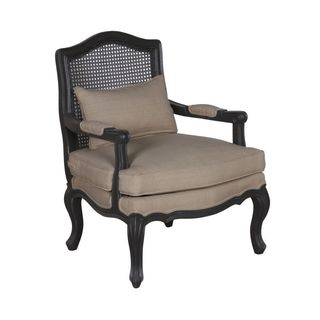 Eloise Occasional Chair With Wood Frame in Vintage Black