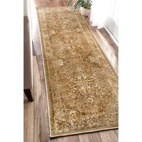 nuLOOM Traditional Vintage Inspired Overdyed Fancy Natural Runner Rug (2'6 x 8')
