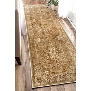 nuLOOM Traditional Vintage Inspired Overdyed Fancy Natural Runner Rug (2'6 x 8') (Option: Natural)
