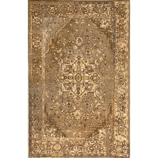 nuLOOM Traditional Vintage-inspired Area Rug (Natural - 6 7 x 9)