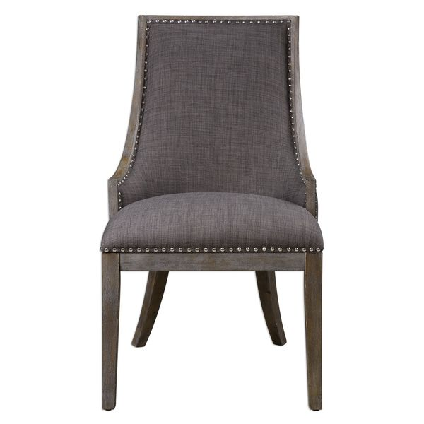 Aidrian Charcoal Gray Accent Chair. Opens flyout.
