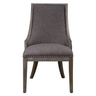 Aidrian Charcoal Gray Accent Chair