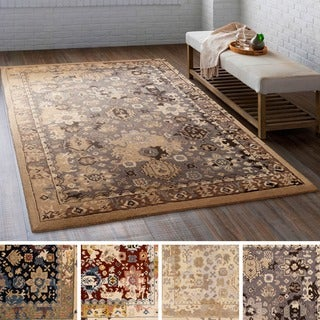 The Curated Nomad Esmeralda Hand-tufted Wool Distressed Area Rug - 9' x 13' (3 options available)