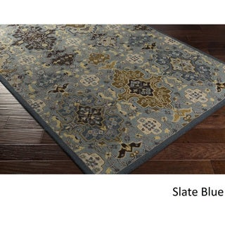 Hand Tufted Rugby Wool Area Rug - 9' x 13'