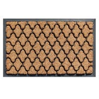 First Impression Barnett Ogee Rubber and Coir Doormat