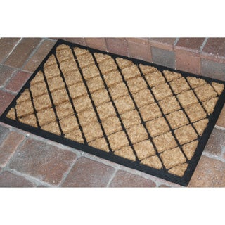 A1HC -First Impression Alvina Striped Rubber and Coir Doormat (1'6 x 2'6)