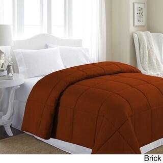 Soft Microfiber Hypoallergenic Down Alternative Comforter (Option: Brick - Queen/Full - Queen/Full)