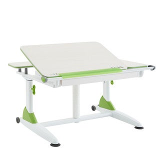 Sit-Stand Green Kid's Ergonomic Table with Drawer