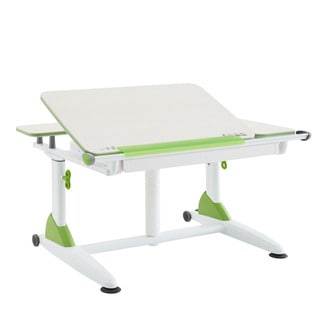 Kid 2 Youth Sit and Stand Green Kid's Ergonomic Table with Drawer