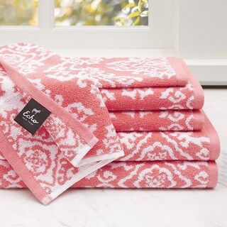Echo Design Surat 6-Piece Cotton Jacquard Towel Set