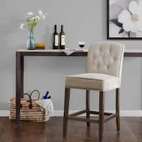 Madison Park Misha Tan Tufted Counter Stool