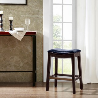 Madison Park Nomad Saddle Counter Stool (Option: Blue)