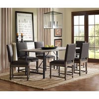 "Madison Park Kagen Dining Chair Set (2)--Grey - 19.25""w x 23.25""d x 38""h (2)"