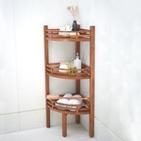 Cambridge Casual Estate Spa Teak Corner Shelf