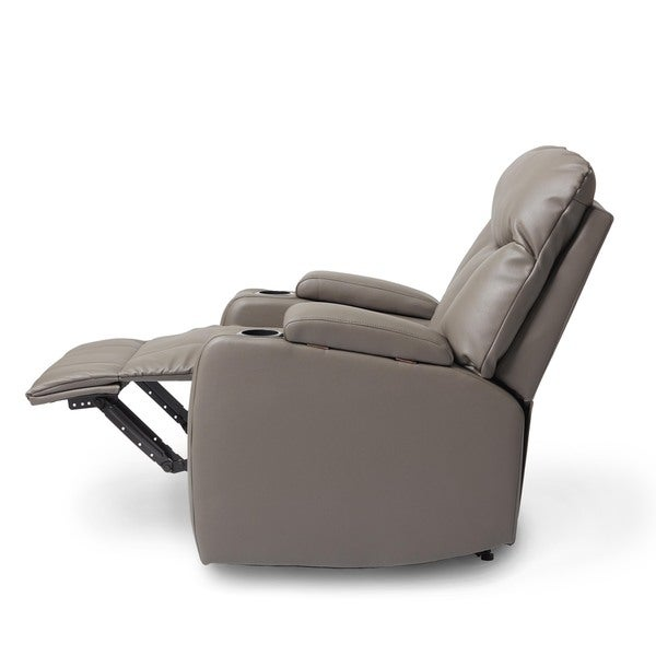 ProLounger Tuff Stuff Taupe Synthetic Leather Wall Hugger Storage Arm Recliner - Free Shipping Today - Overstock.com - 18078940  sc 1 st  Overstock.com & ProLounger Tuff Stuff Taupe Synthetic Leather Wall Hugger Storage ... islam-shia.org