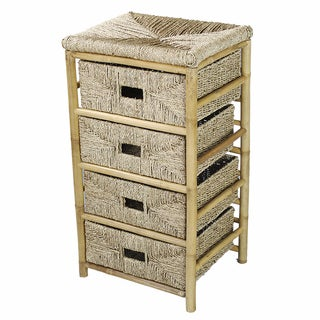 4-Drawer Bamboo Cabinet