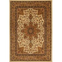 """Home Dynamix Royalty Collection Traditional Beige, Black, Brown, Ivory, Red Area Rug  (43""""X62"""")"""