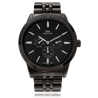 Territory Men's Multi-function Quartz Watch with Link Band