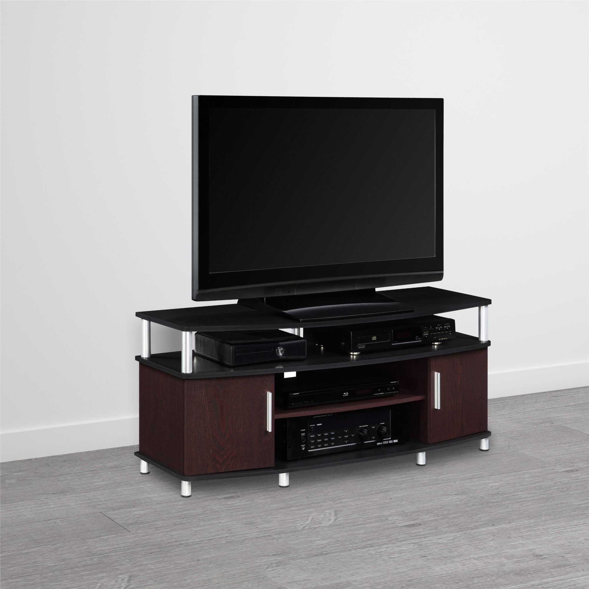 shop avenue greene ford cherry black 50 inch tv stand free shipping on orders over 45. Black Bedroom Furniture Sets. Home Design Ideas