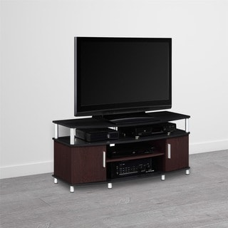 Ameriwood Home Carson Cherry/ Black 50-inch TV Stand