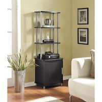 Ameriwood Home Carson Espresso Audio Stand