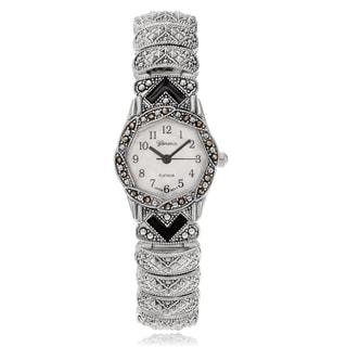 Geneva Platinum Women's Marcasite Antique Bracelet Watch