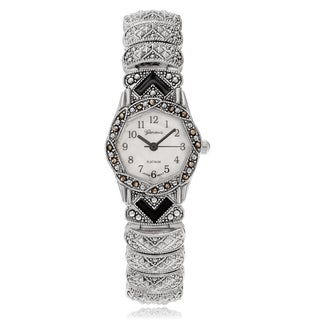 Geneva Platinum Women's Marcasite Antique Bracelet Watch