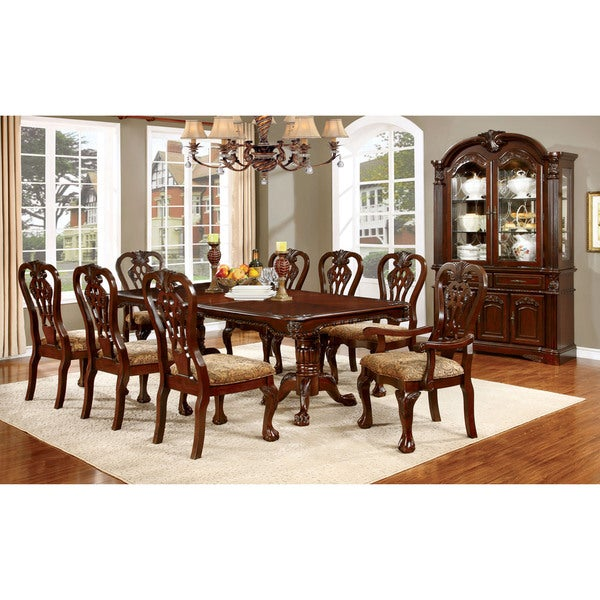 Cherry Dining Sets: Furniture Of America Carpia Formal 9-piece Brown Cherry