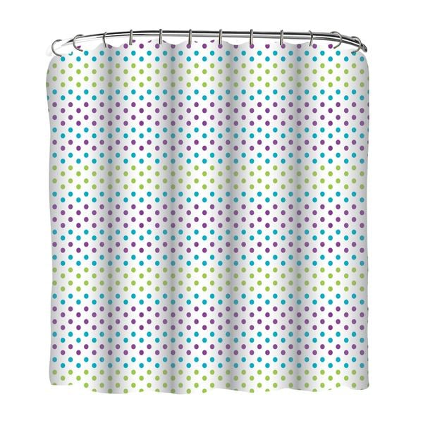 Printed Gradient Dots Shower Curtain