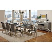 Furniture of America Mora Contemporary 9-piece Champagne Dining Set