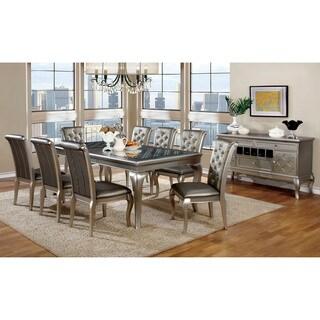 Furniture of America Mora Contemporary 9-piece Ch&agne Dining Set  sc 1 st  Overstock & Size 9-Piece Sets Dining Room \u0026 Bar Furniture For Less | Overstock