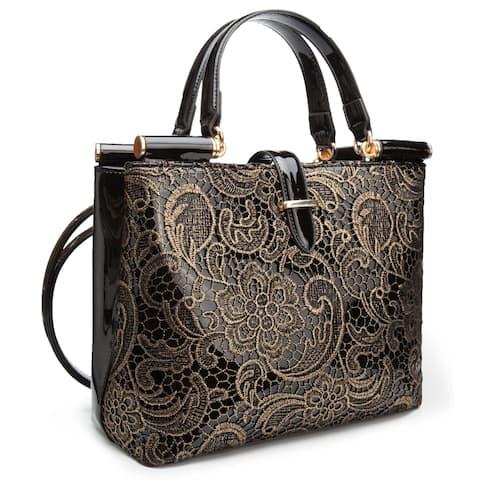 Ann Creek Women's 'Wolls' Metallic Embroidered Bag