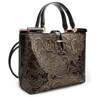 Ann Creek Women's 'Wolls' Metallic Embroidered Handbag (Option: Gold)