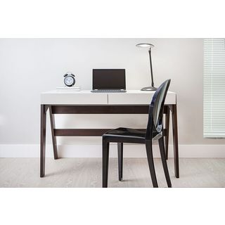 TrendLine Camerino/ Off-white 2-drawer Home Office Desk