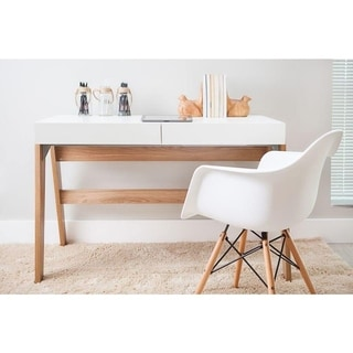 modern office desk with 2 drawers hanoveroff white