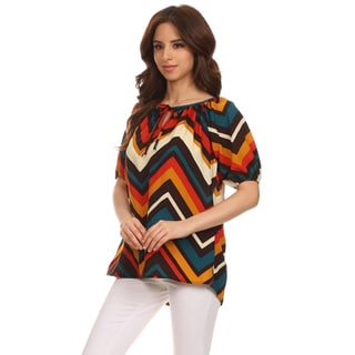 Moa Collection Women's Chevron Loose Fit Top