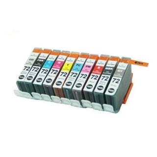 10PK PGI-72PBK CY M Y PC PM GY MBK R CO Compatible Ink Cartridge For Canon PIXMA Pro 10 ( Pack of 10 )