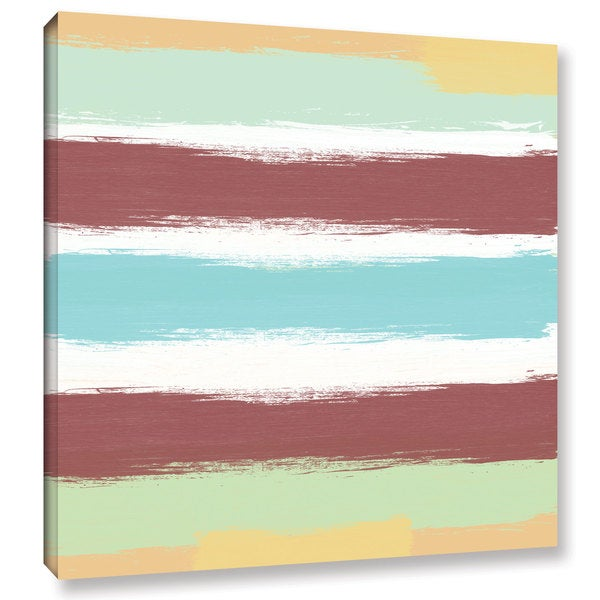 ArtWall Linda Woods's Marsala Paint Stripes, Gallery Wrapped Canvas